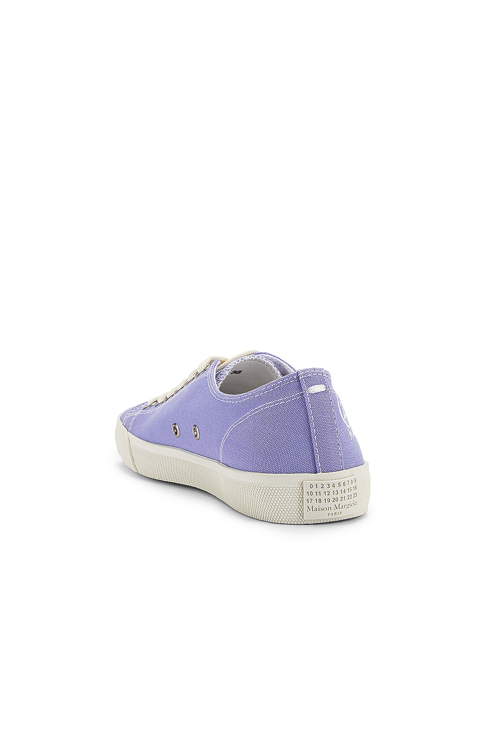 Image 4 of Maison Margiela Tabi Low Top Canvas Sneakers in Thistle