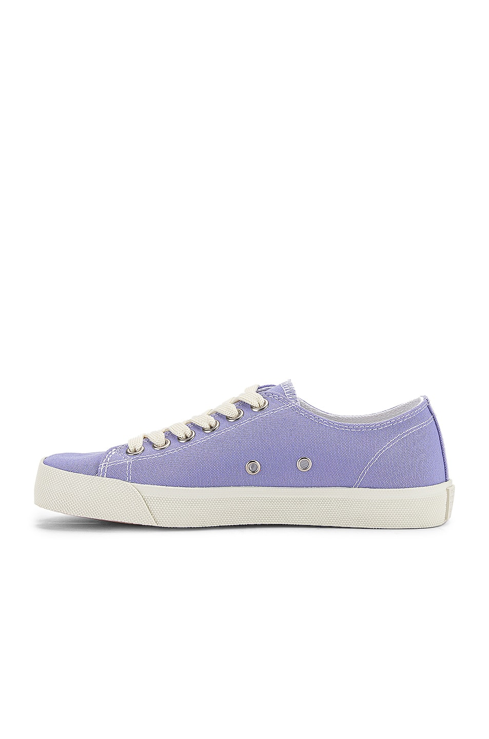 Image 5 of Maison Margiela Tabi Low Top Canvas Sneakers in Thistle
