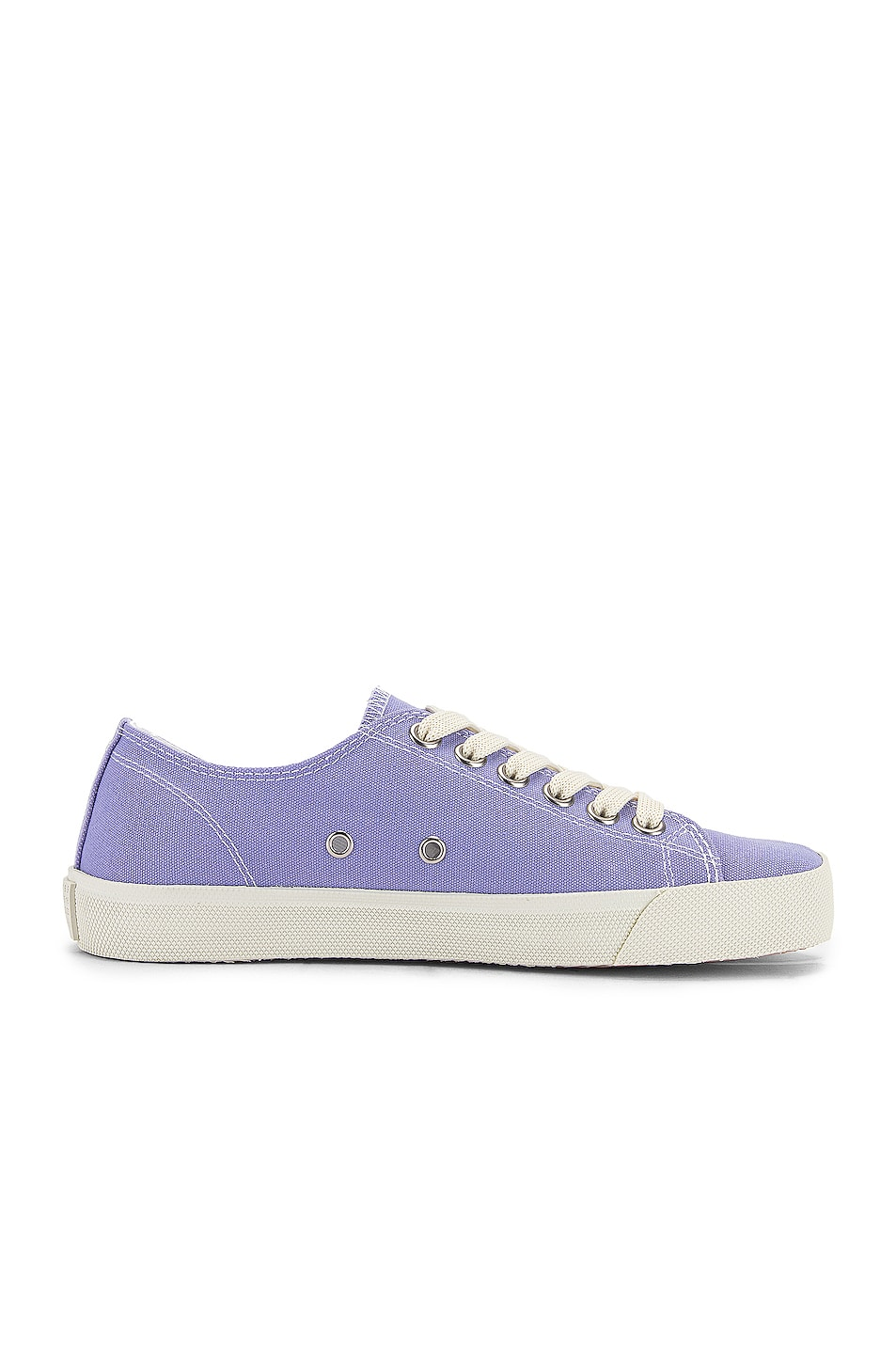 Image 7 of Maison Margiela Tabi Low Top Canvas Sneakers in Thistle