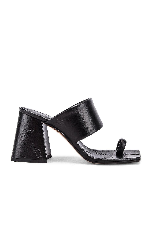 Image 1 of Maison Margiela Tabi Sandals in Black