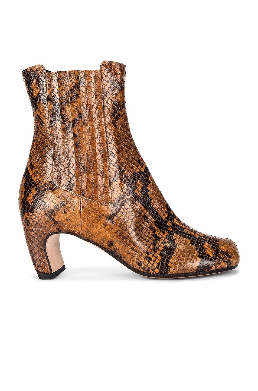 Image 1 of Maison Margiela Tabi Python Boots in Cognac & Black
