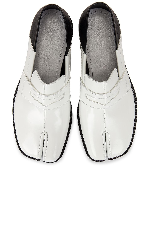 Image 1 of Maison Margiela Tabi Loafers in White & Black
