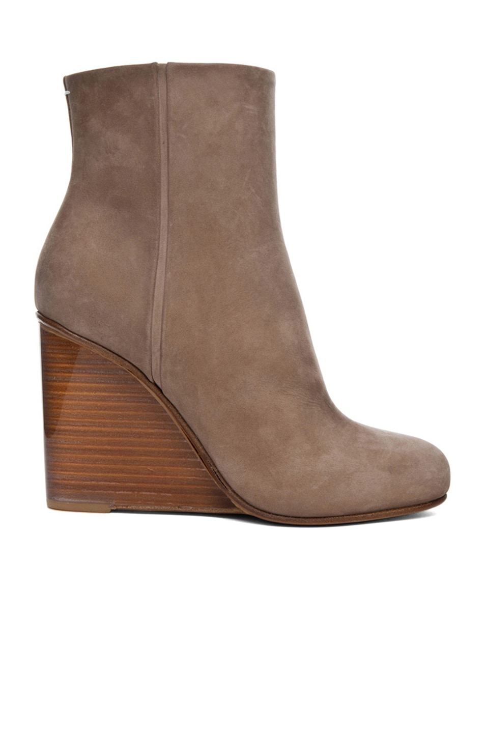 Image 1 of Maison Margiela New Plexi Suede  Wedge Bootie in Mud