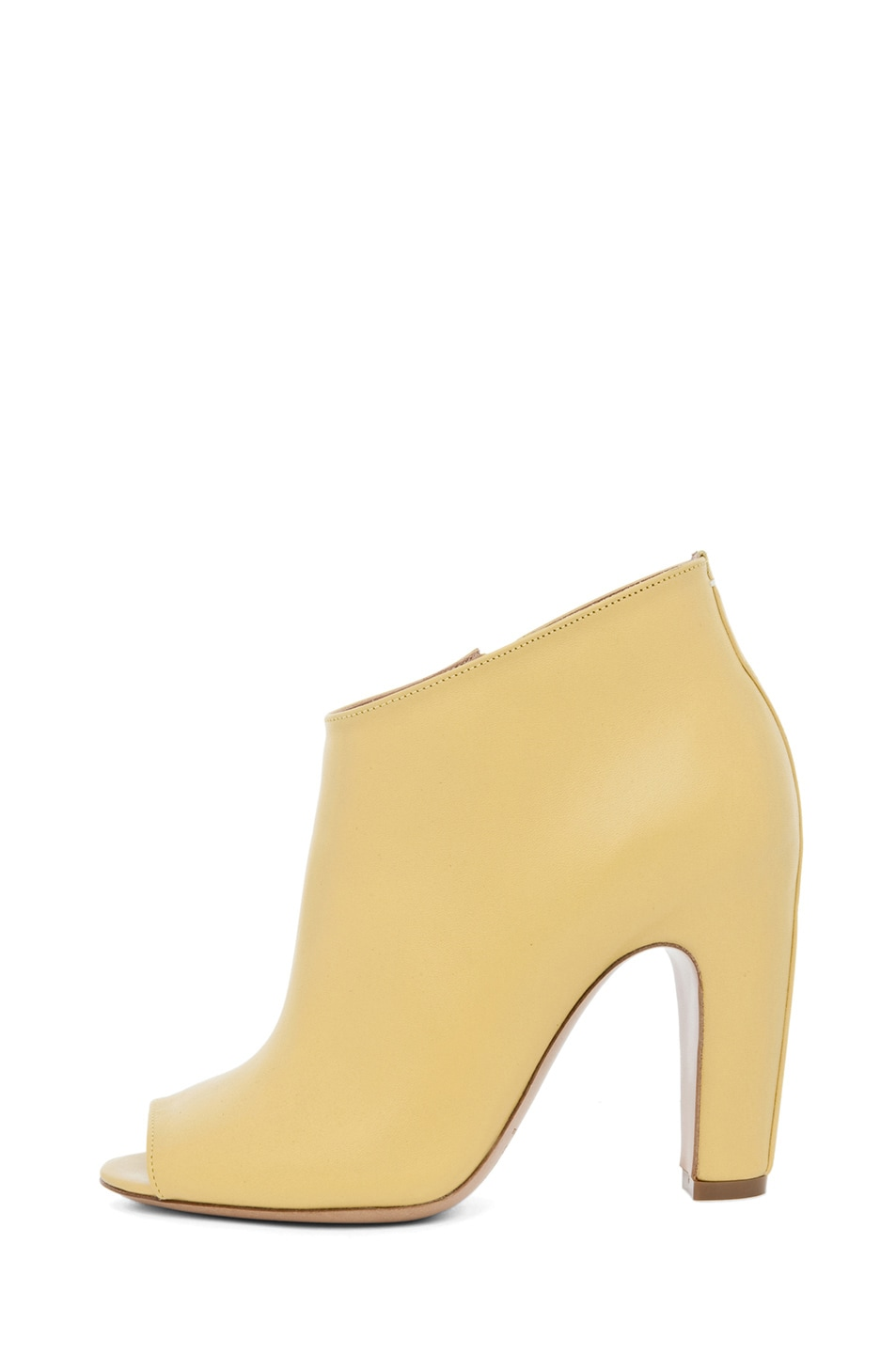 Image 1 of Maison Margiela Curved Heel Bootie in Lime
