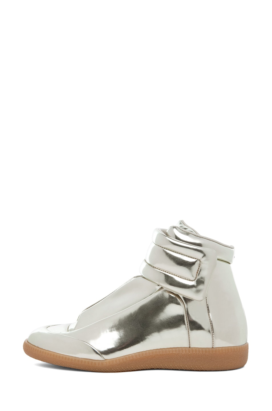 Image 1 of Maison Margiela Hi Top Sneaker in Gold