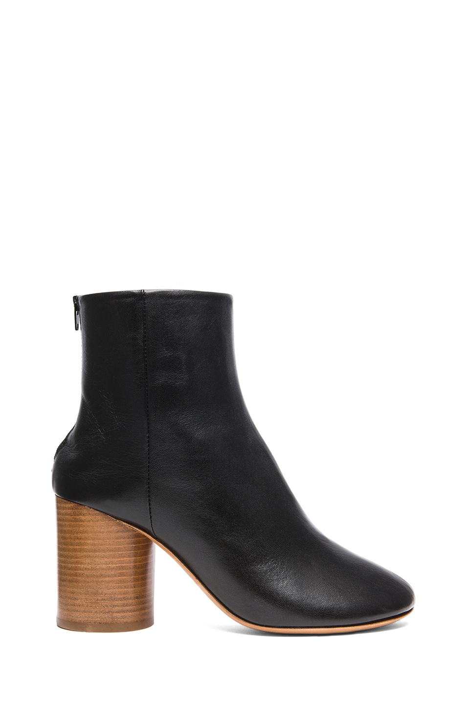 Image 1 of Maison Margiela Kid Leather Booties in Black