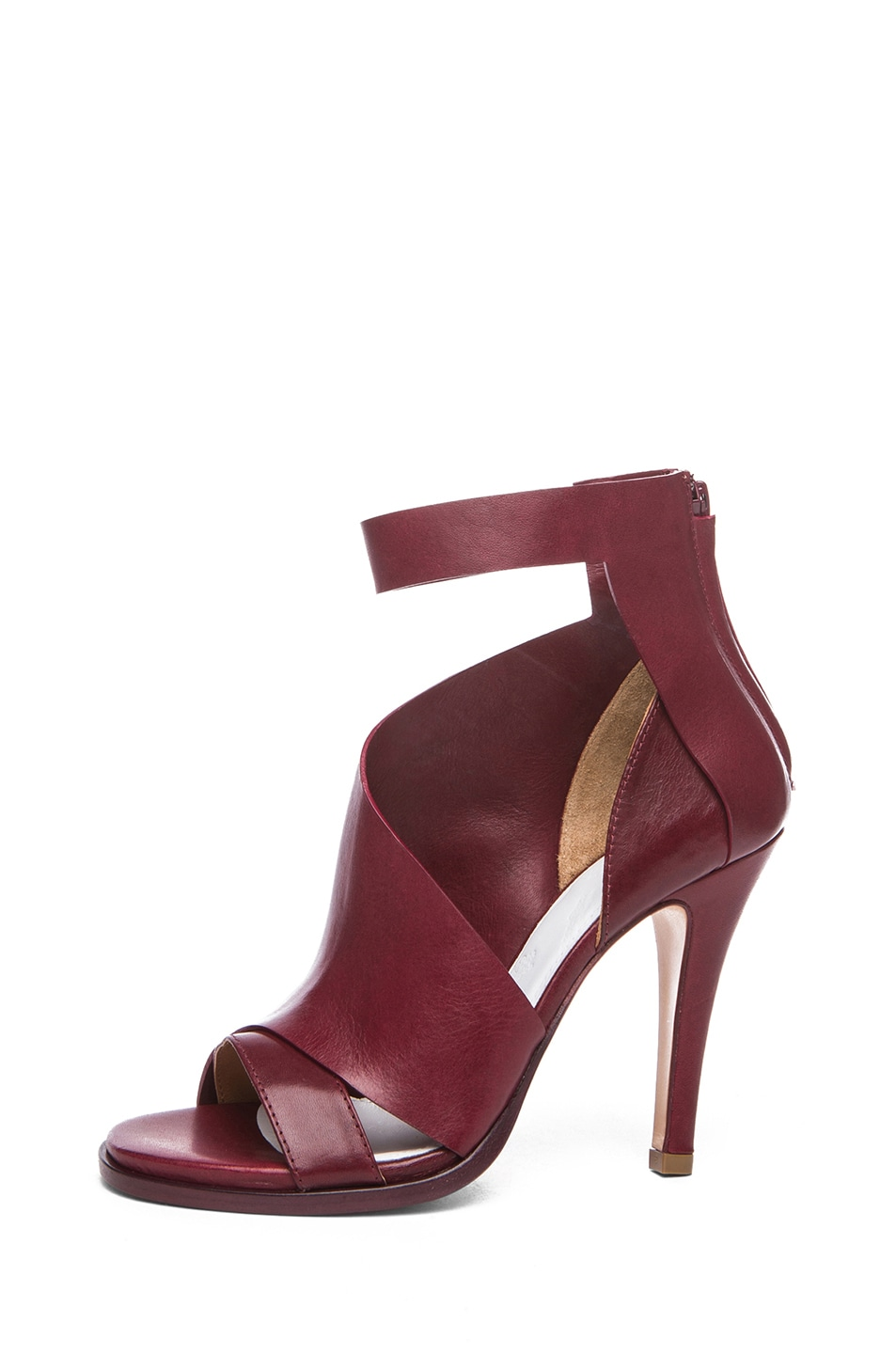 Image 1 of Maison Margiela Double Montage Leather Heels in Red