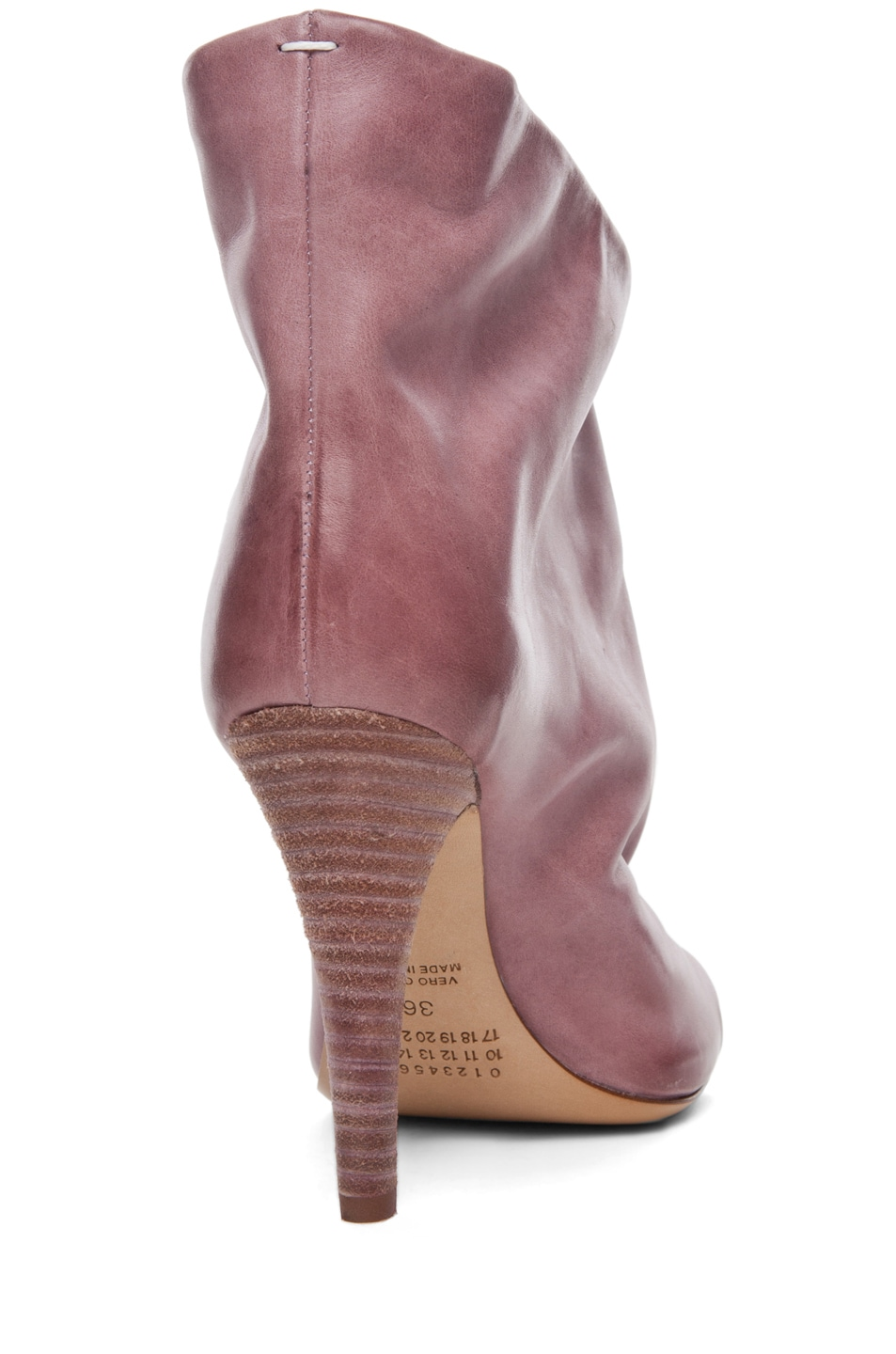 Image 3 of Maison Margiela Waxed Open Toe Bootie in Lilac