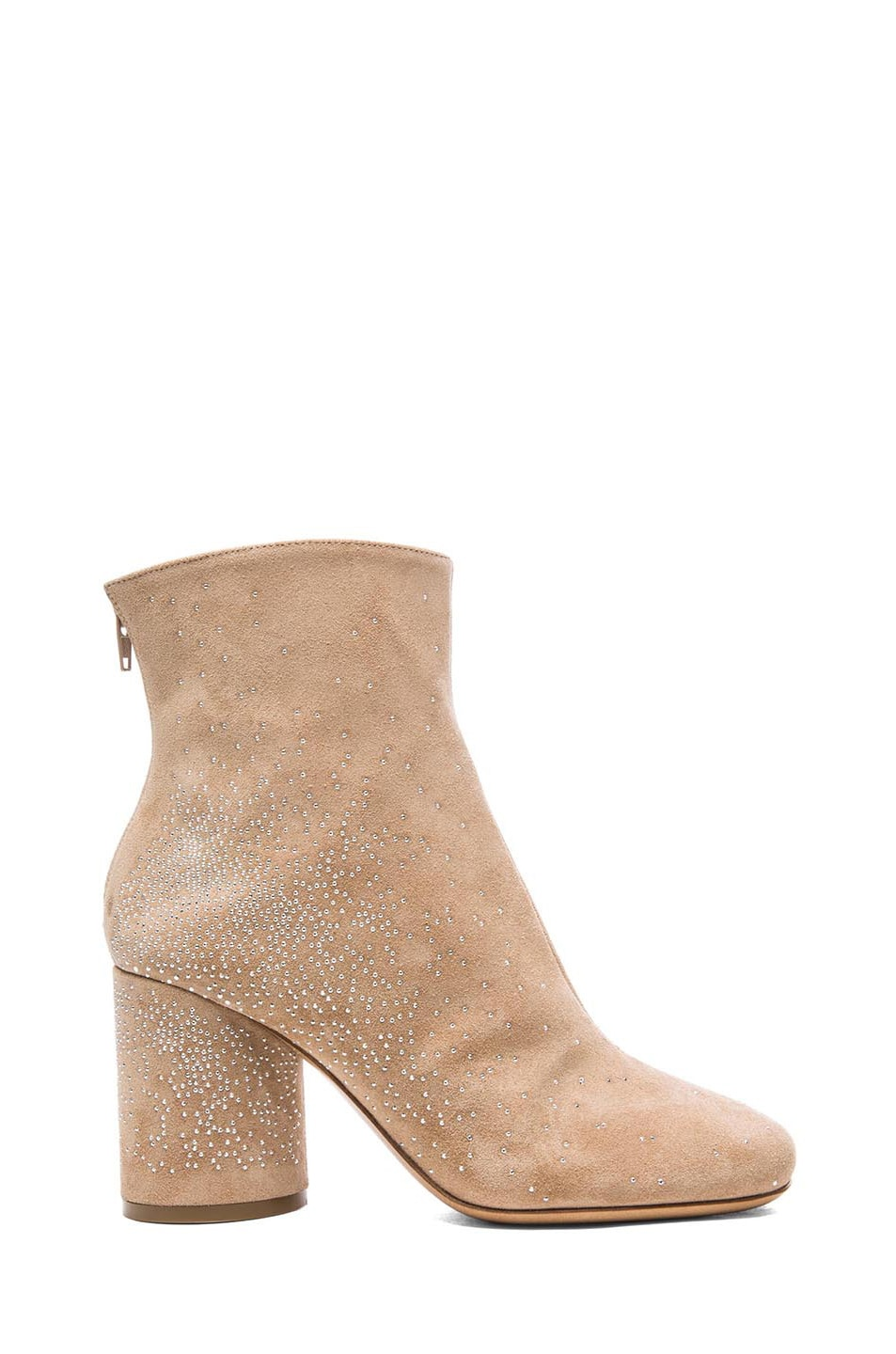 Image 1 of Maison Margiela Suede Studded Booties in Flesh