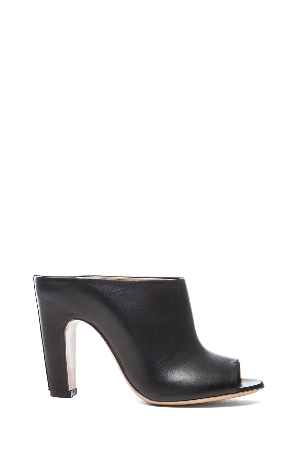 Image 1 of Maison Margiela Open Toe Leather Mules in Black
