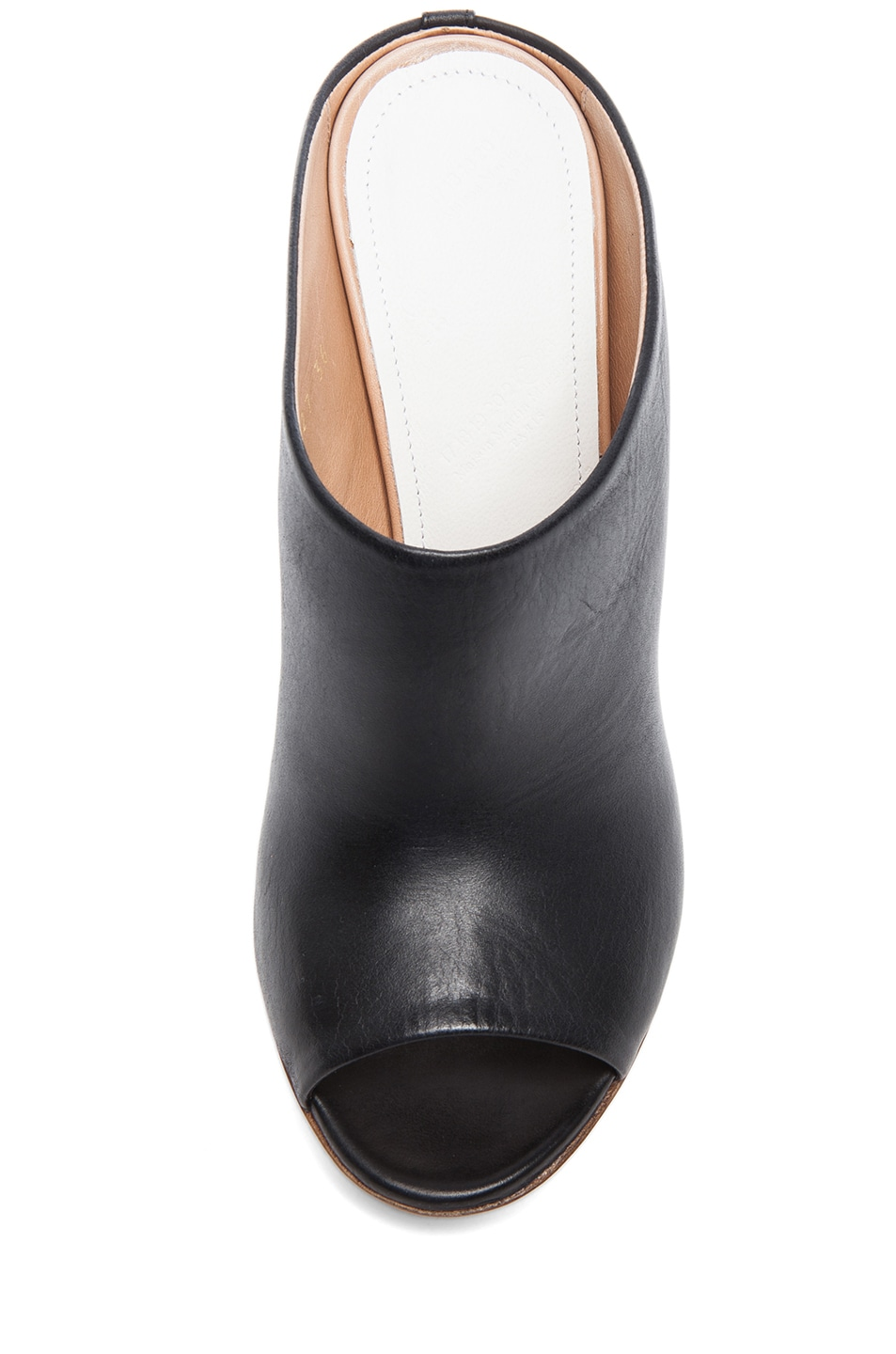 Image 4 of Maison Margiela Open Toe Leather Mules in Black