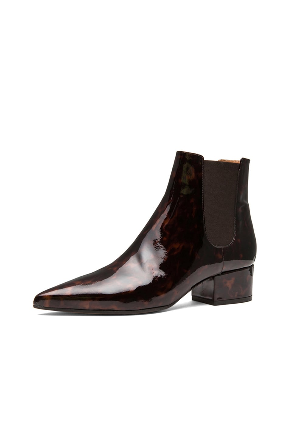 Image 2 of Maison Margiela Printed Patent Leather Chelsea Boots in Turtle
