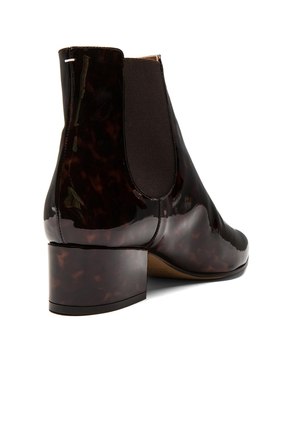 Image 3 of Maison Margiela Printed Patent Leather Chelsea Boots in Turtle