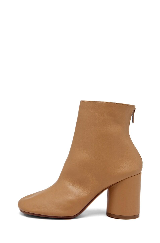 Image 1 of Maison Margiela Zip Back Bootie with Heel in Natural