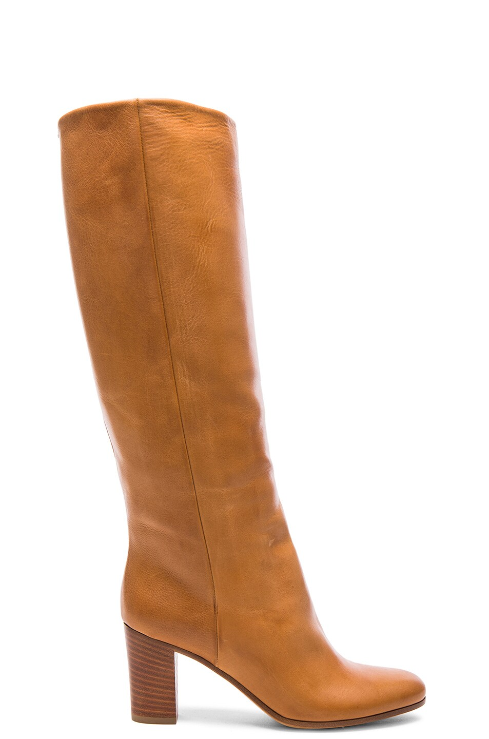Image 1 of Maison Margiela Waxed Leather Riding Boots in Brown
