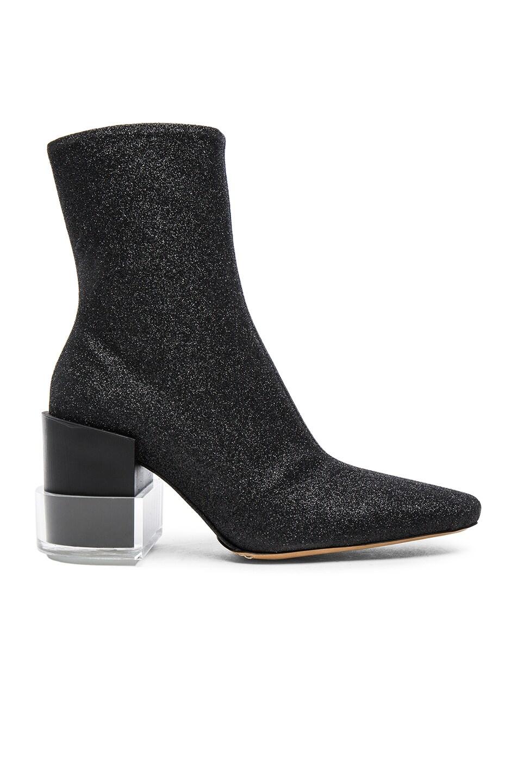 Image 1 of Maison Margiela Glitter Booties in Black