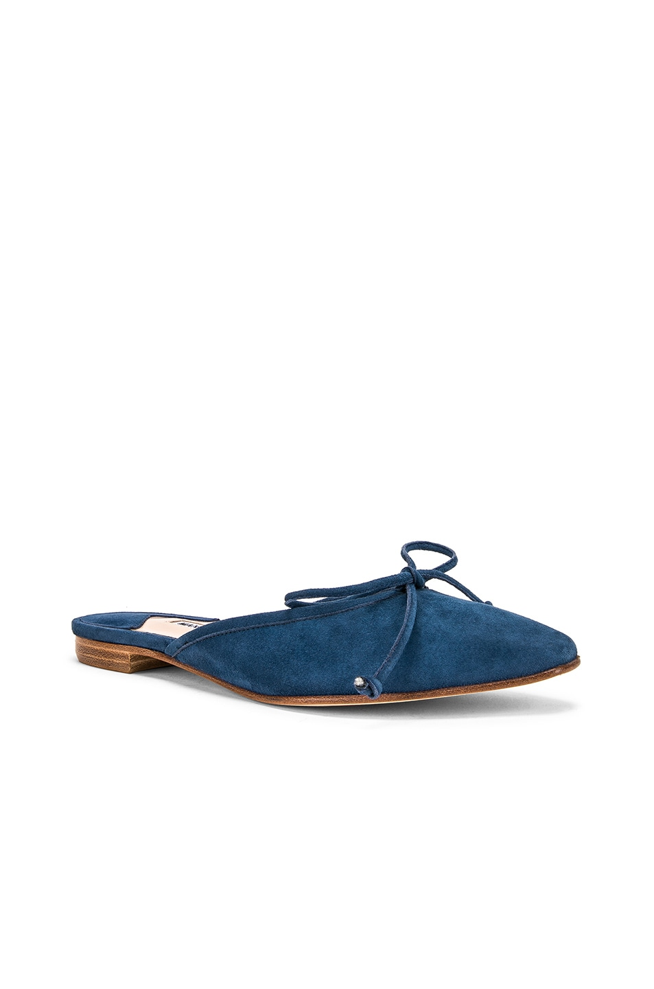 Image 2 of Manolo Blahnik Ballerimu Slide in Blue Suede