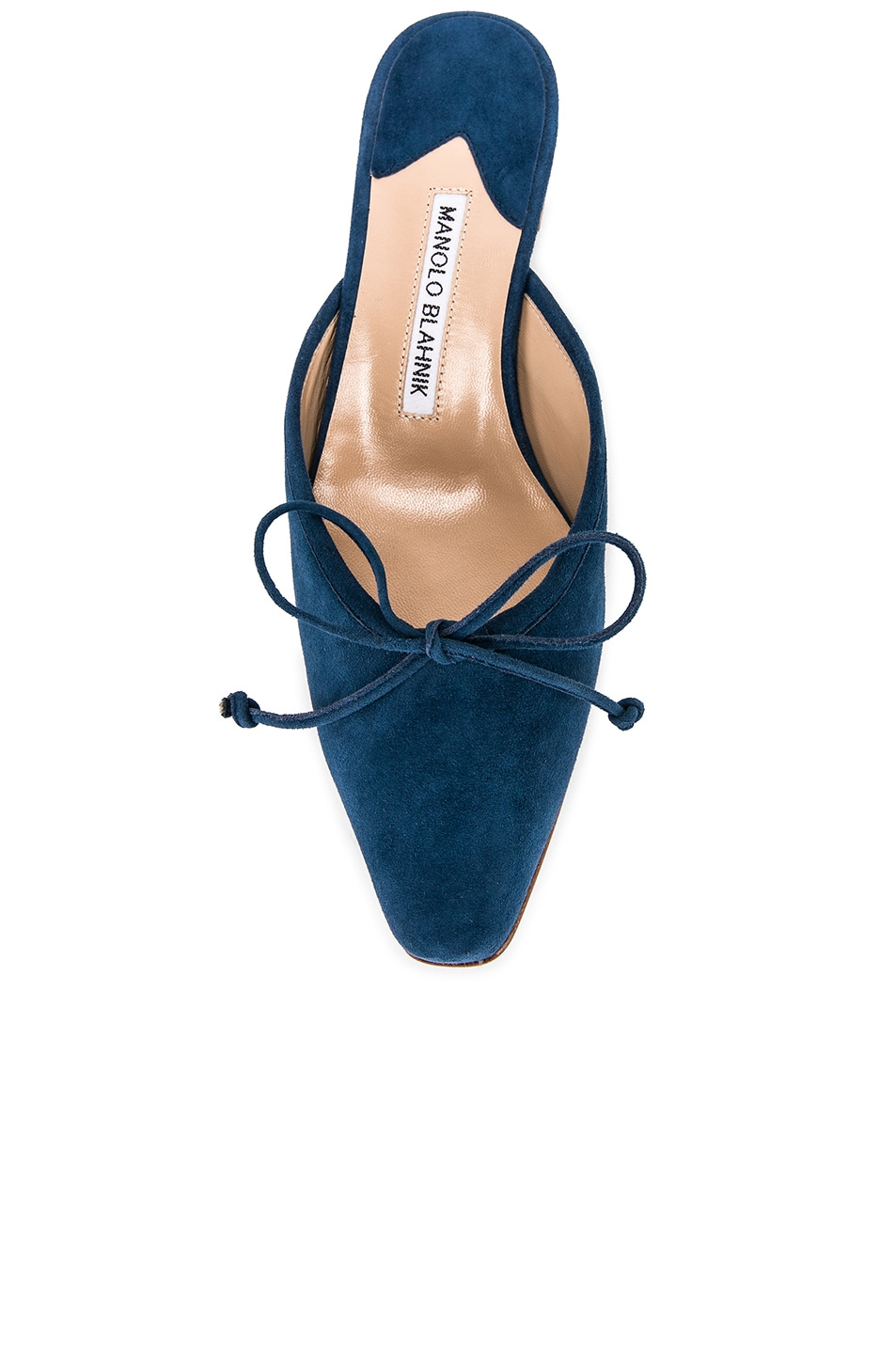 Image 4 of Manolo Blahnik Ballerimu Slide in Blue Suede