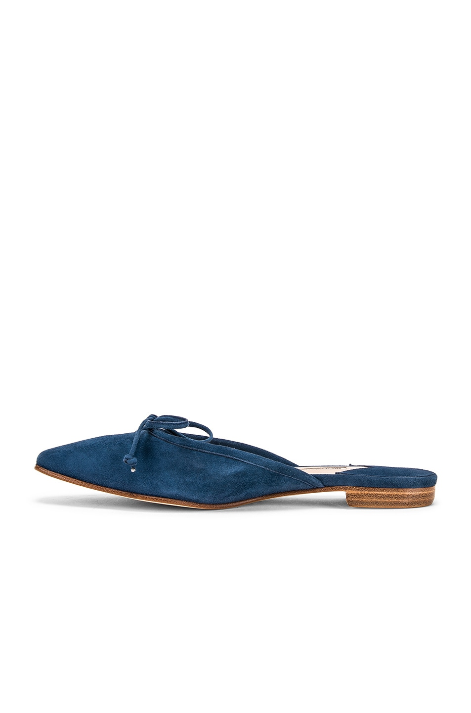 Image 5 of Manolo Blahnik Ballerimu Slide in Blue Suede