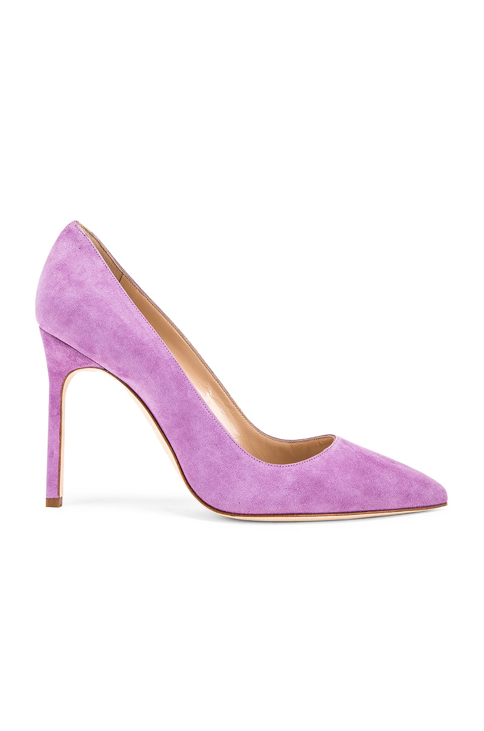 Image 1 of Manolo Blahnik BB 105 Pump in Lilac Purple Suede