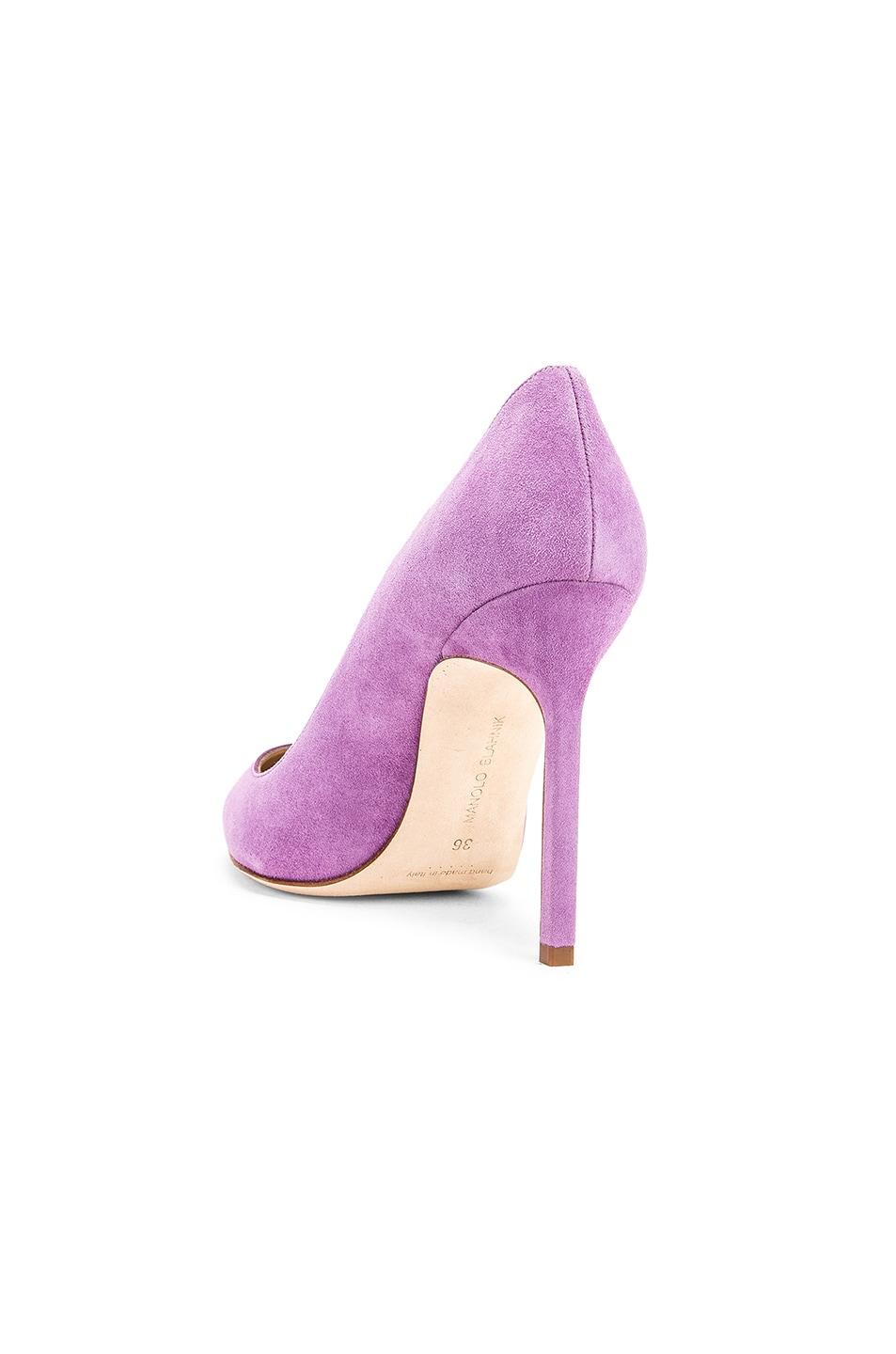 Image 3 of Manolo Blahnik BB 105 Pump in Lilac Purple Suede