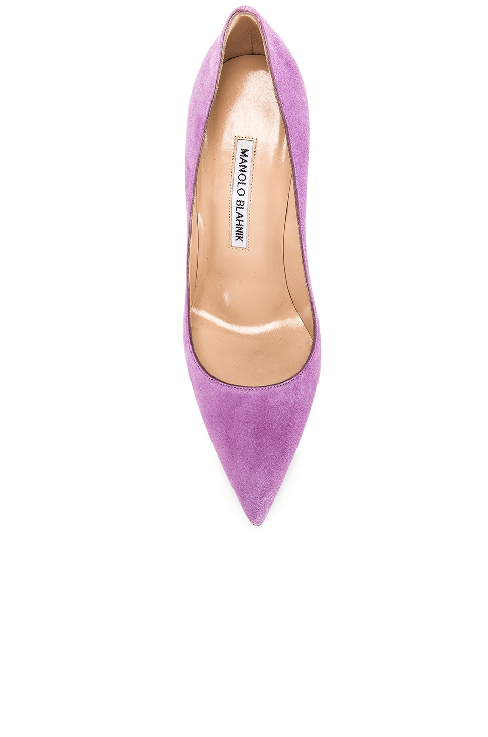 Image 4 of Manolo Blahnik BB 105 Pump in Lilac Purple Suede