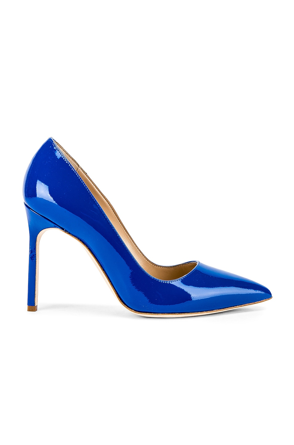 Image 1 of Manolo Blahnik BB Pump in Electric Blue Patent