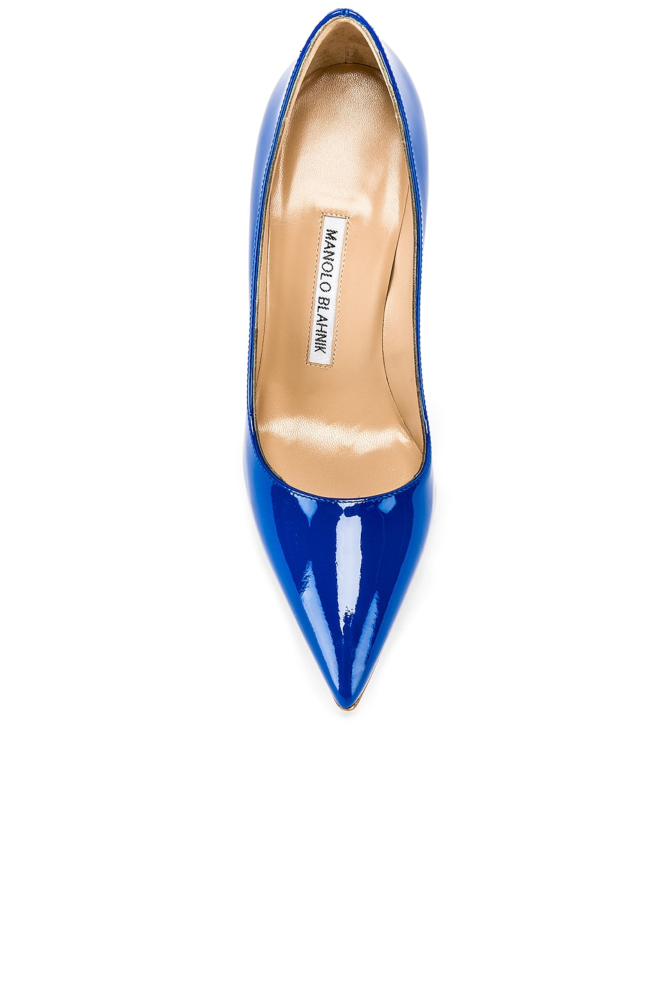 Image 4 of Manolo Blahnik BB Pump in Electric Blue Patent