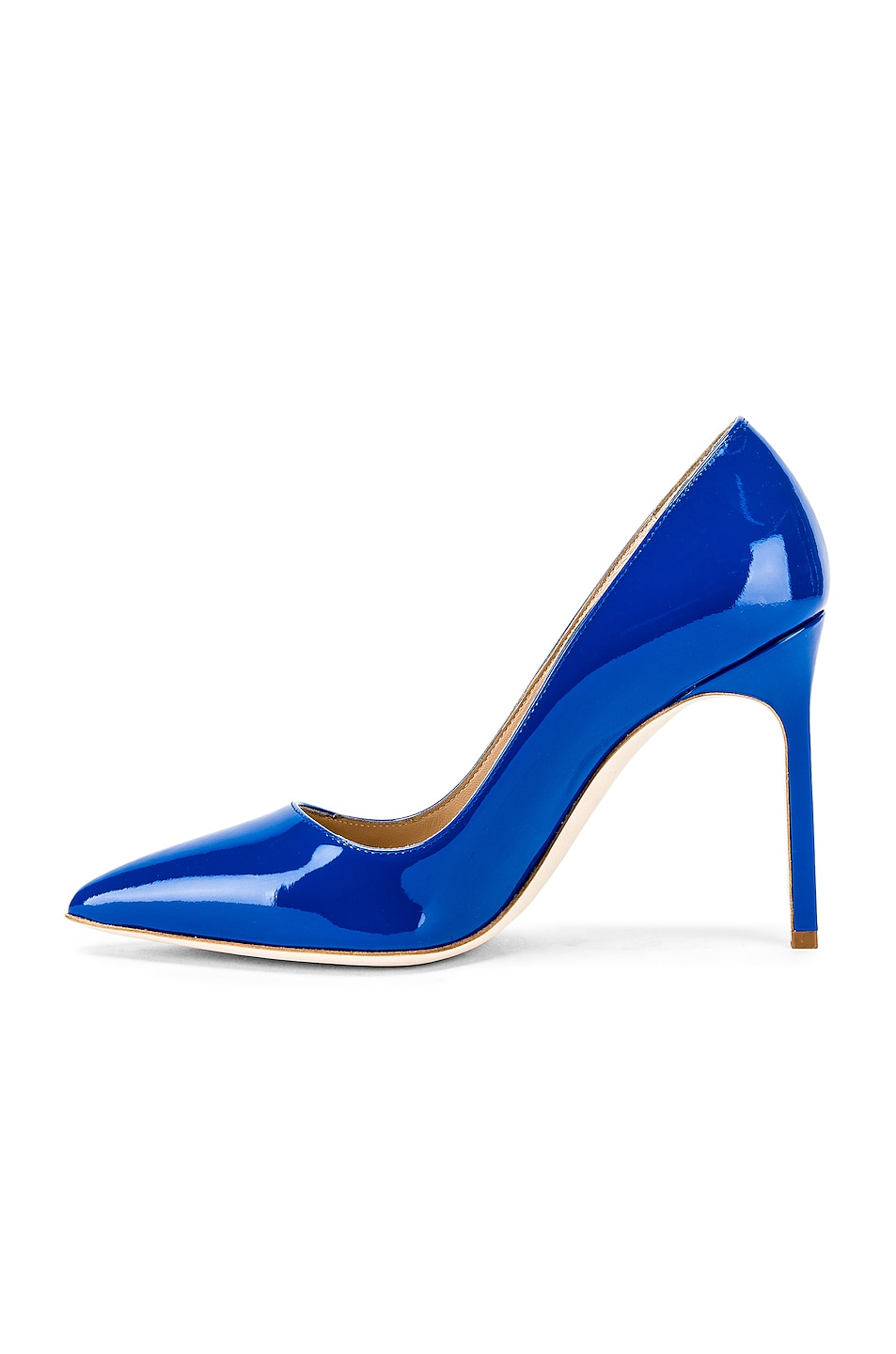 Image 5 of Manolo Blahnik BB Pump in Electric Blue Patent
