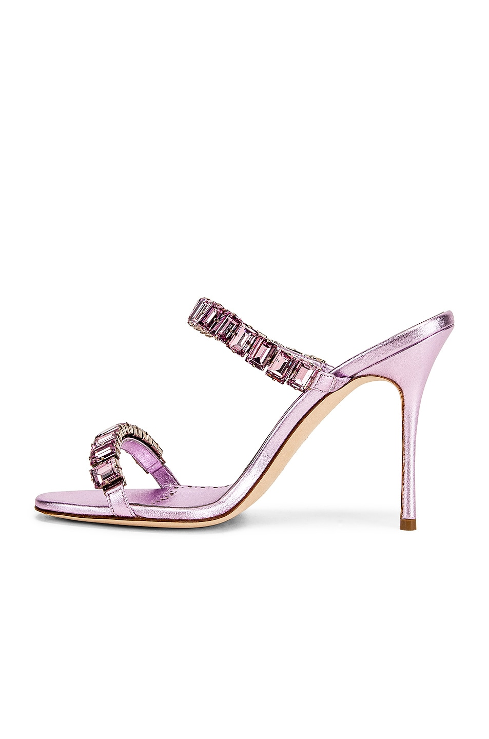 Image 5 of Manolo Blahnik for FWRD Dallitre 105 Sandal in Light Pink Nappa