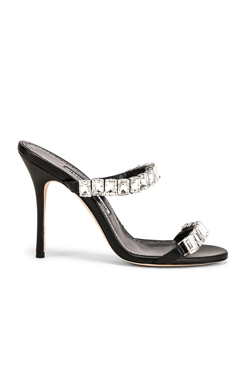 Image 1 of Manolo Blahnik Dallitre 105 Sandal in Nero Nappa