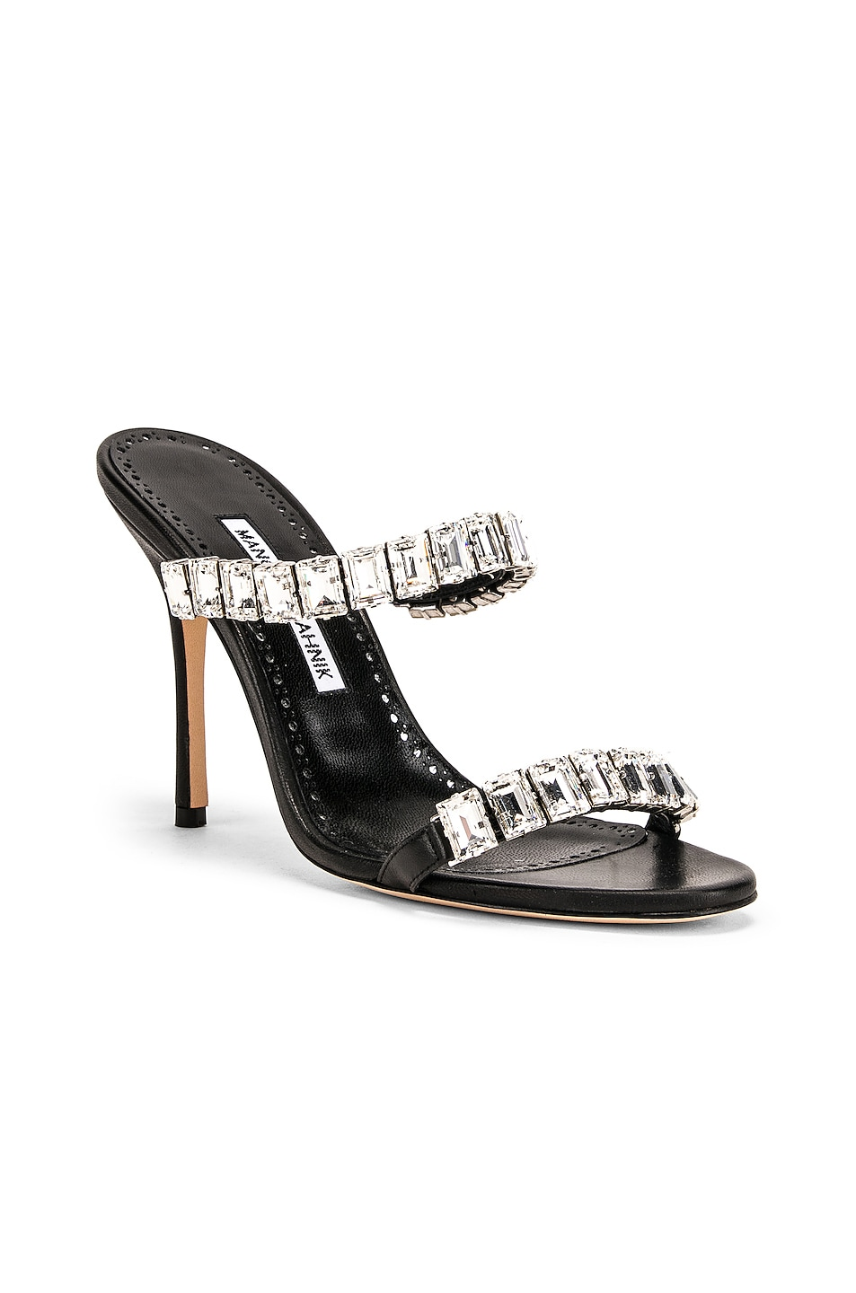 Image 2 of Manolo Blahnik Dallitre 105 Sandal in Nero Nappa