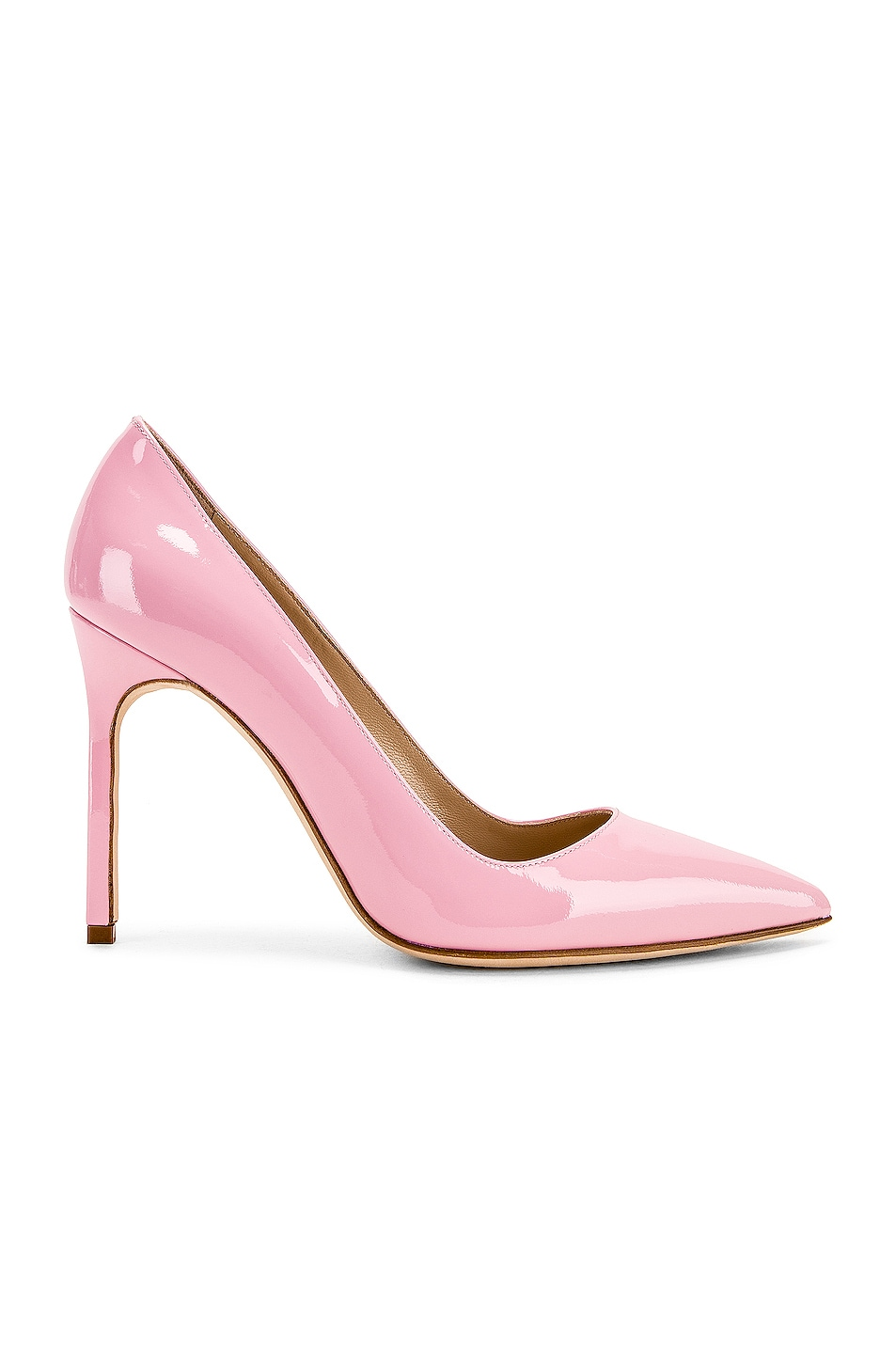 Image 1 of Manolo Blahnik BB Pump in Baby Pink Patent