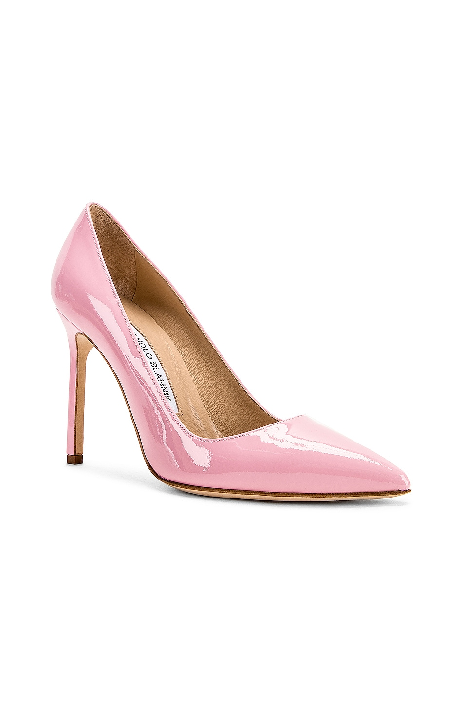 Image 2 of Manolo Blahnik BB Pump in Baby Pink Patent