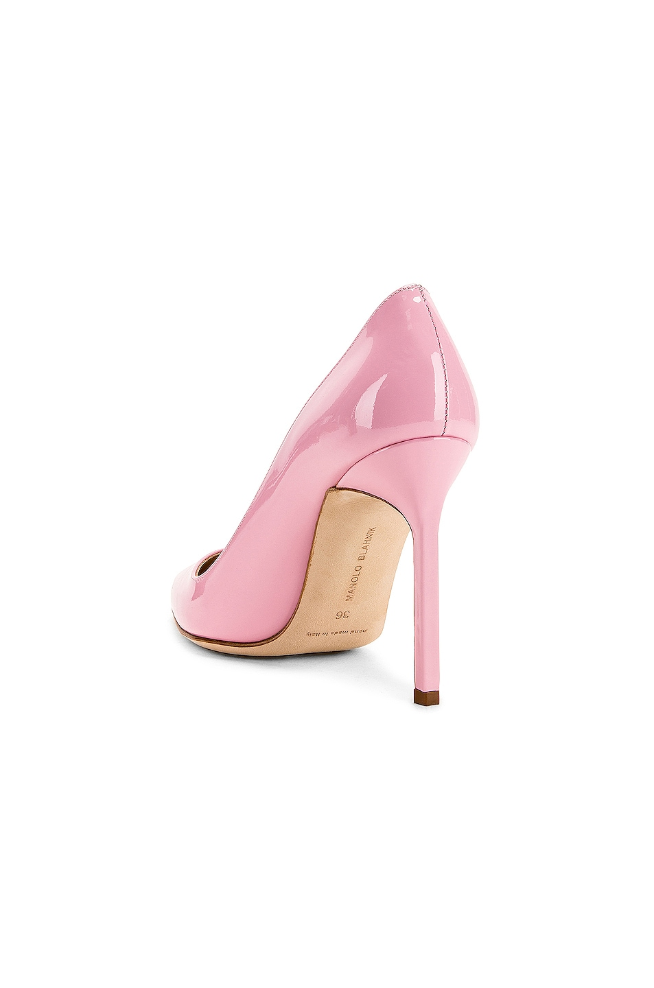Image 3 of Manolo Blahnik BB Pump in Baby Pink Patent