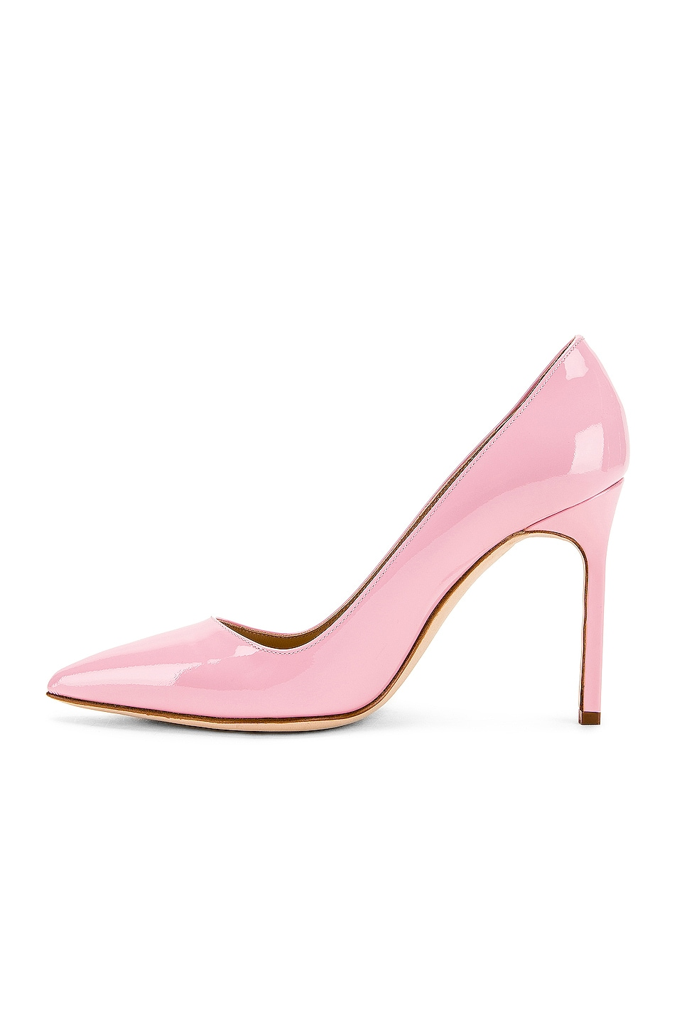 Image 5 of Manolo Blahnik BB Pump in Baby Pink Patent