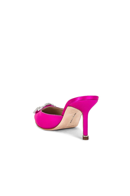 Image 4 of Manolo Blahnik Hangisi 70 Mule in Hot Pink