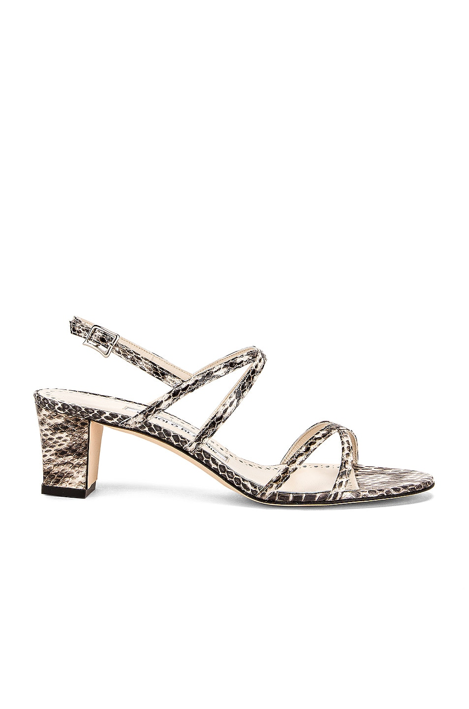 Image 1 of Manolo Blahnik Amata 50 Sandal in Milk