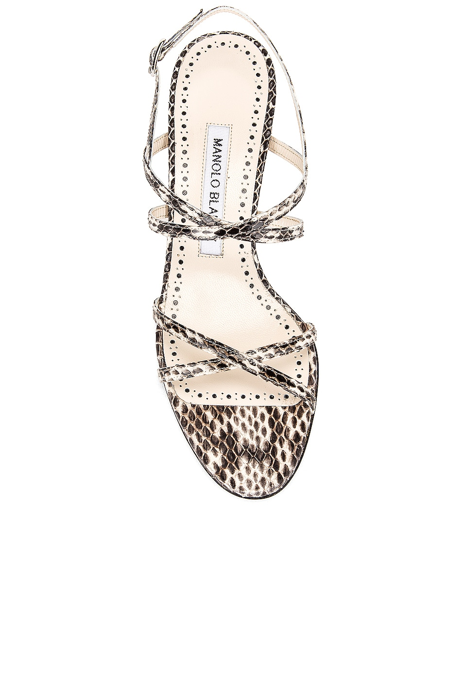 Image 4 of Manolo Blahnik Amata 50 Sandal in Milk