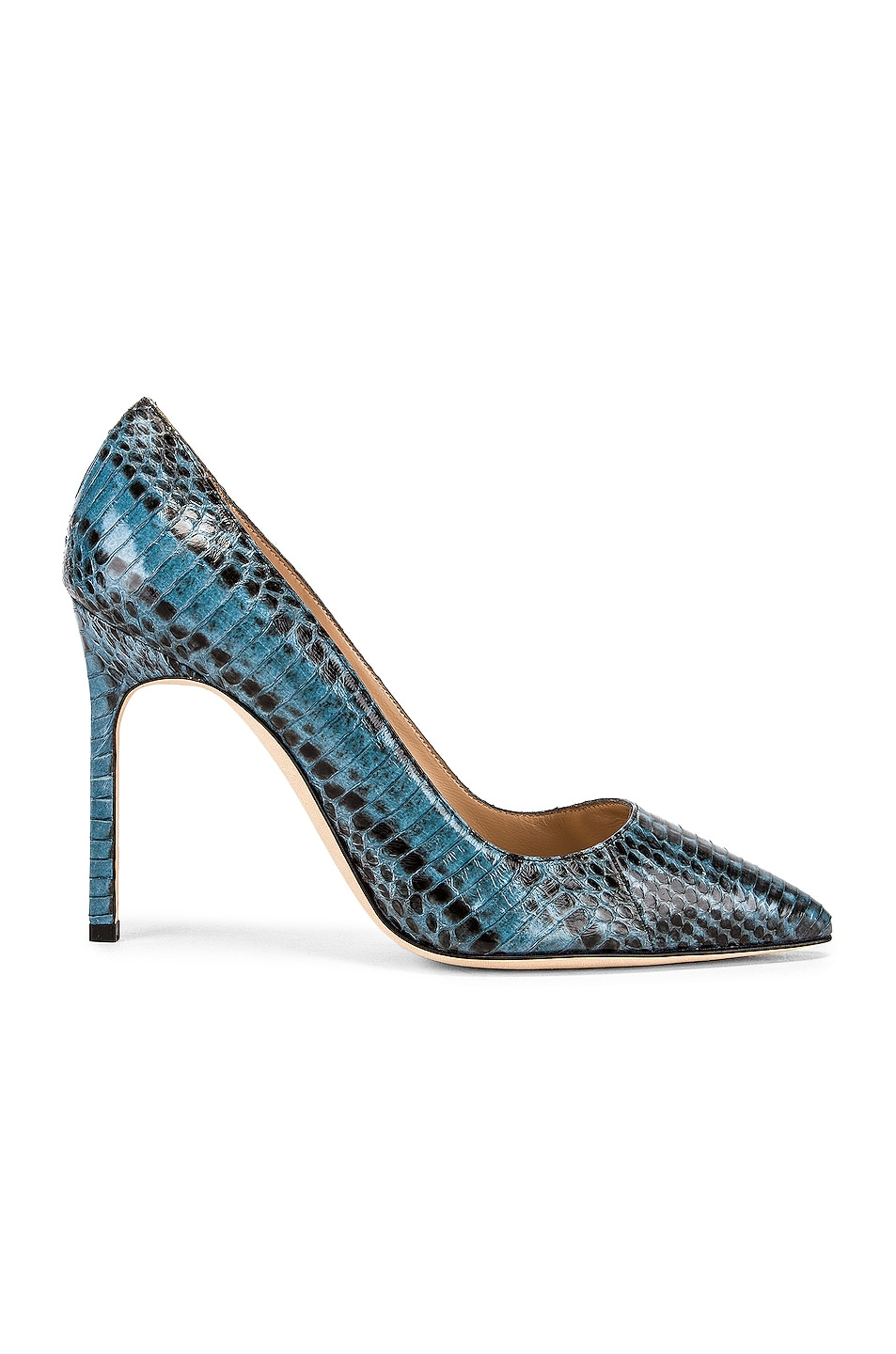 Image 1 of Manolo Blahnik BB 105 Pump in Blue Snake