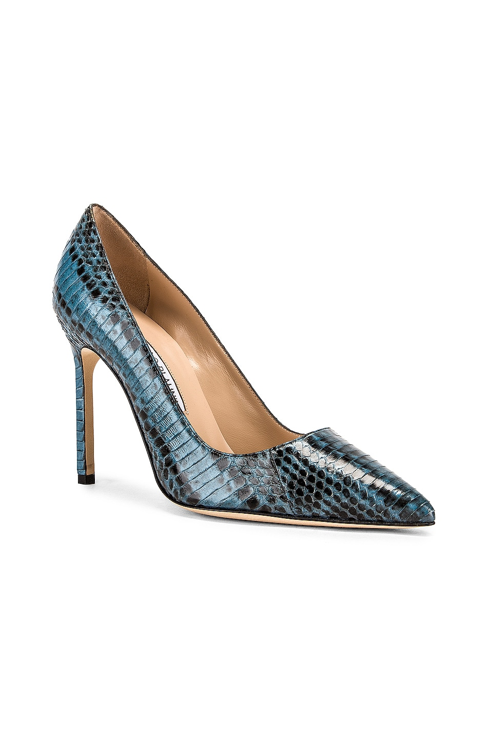 Image 2 of Manolo Blahnik BB 105 Pump in Blue Snake