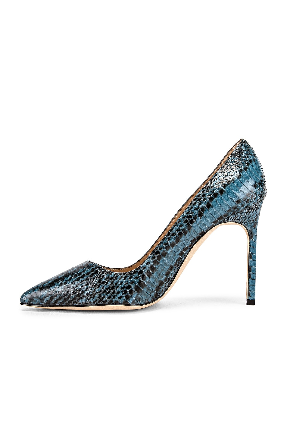 Image 5 of Manolo Blahnik BB 105 Pump in Blue Snake