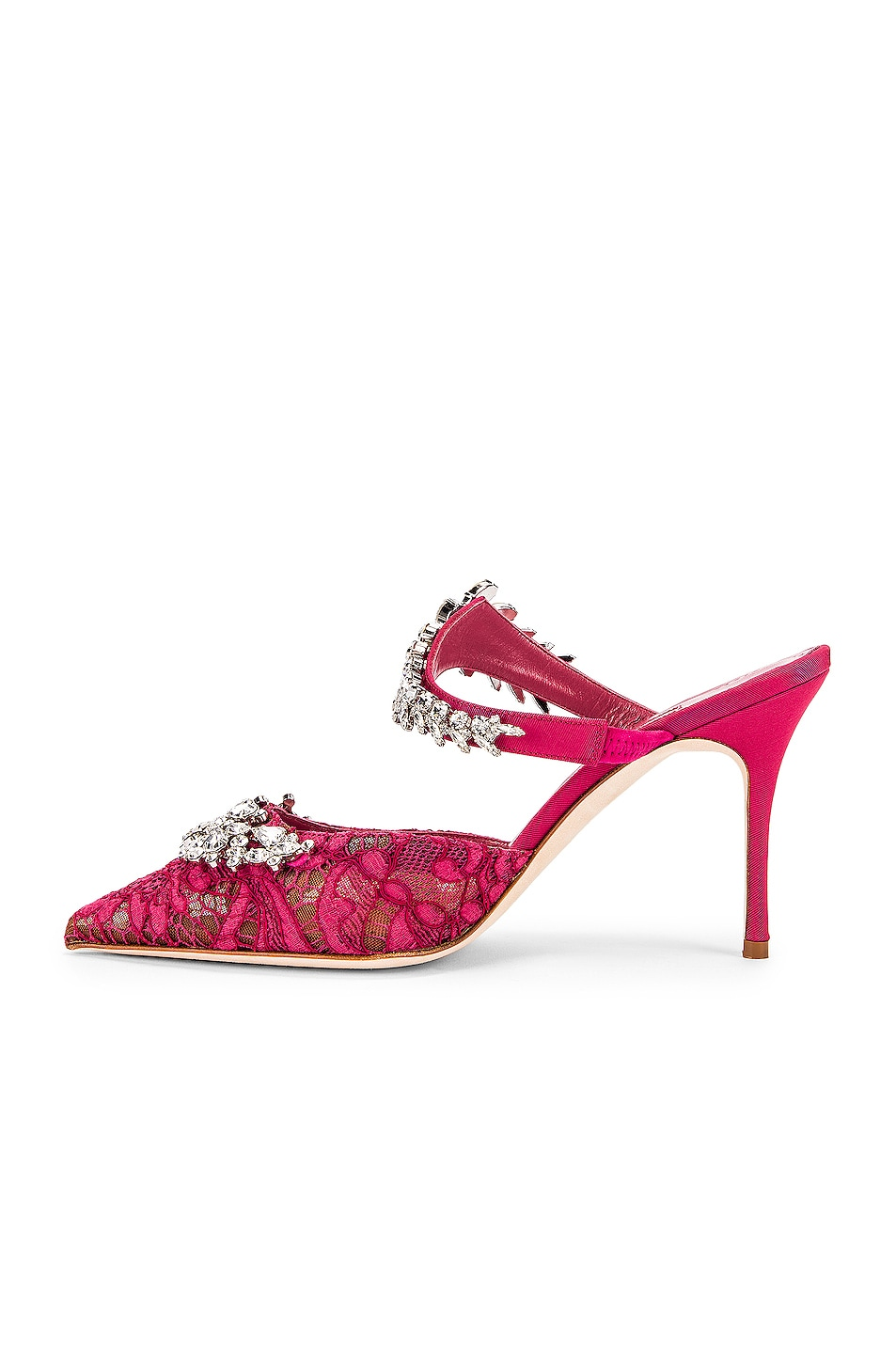 Image 5 of Manolo Blahnik Lurum 90 Mule in Raspberry