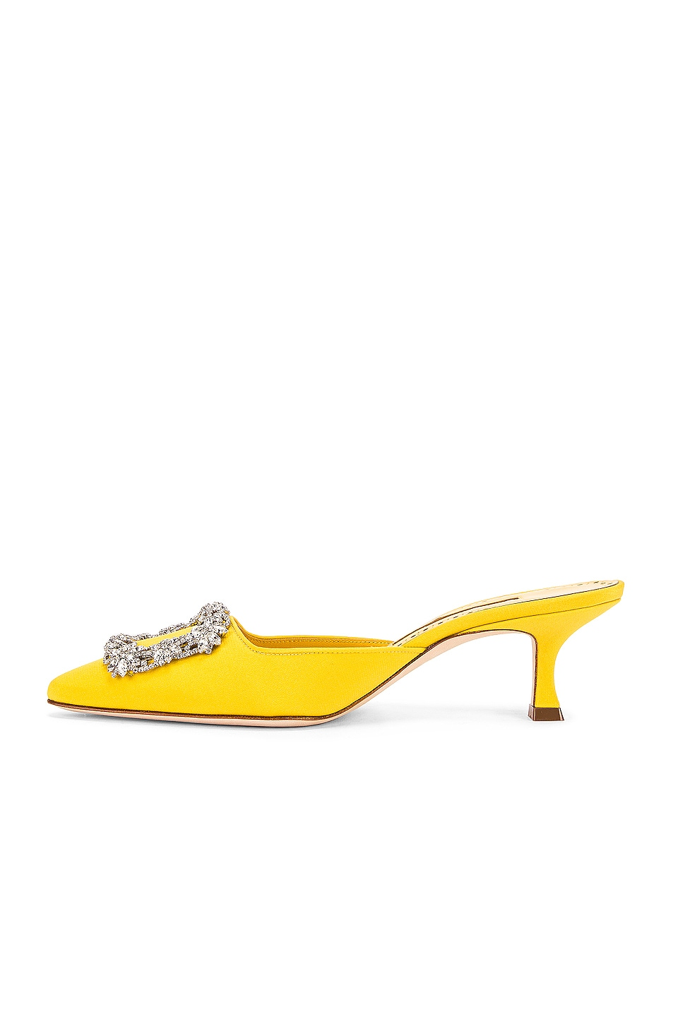 Image 5 of Manolo Blahnik Maysale 50 Jewel Mule in Yellow