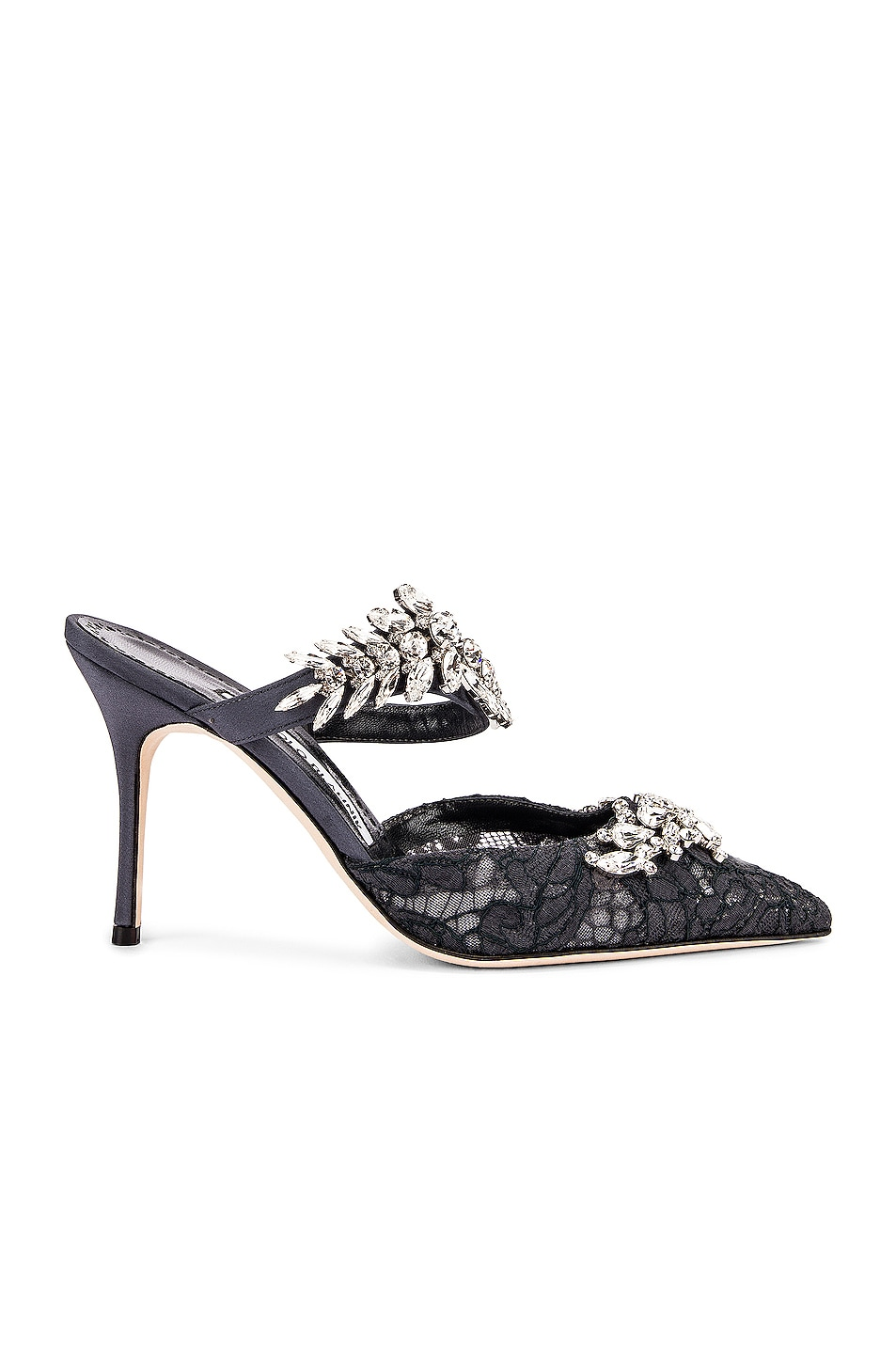f429bd08e4cad Image 2 of Manolo Blahnik Lurum 90 Mule in Blue Grey