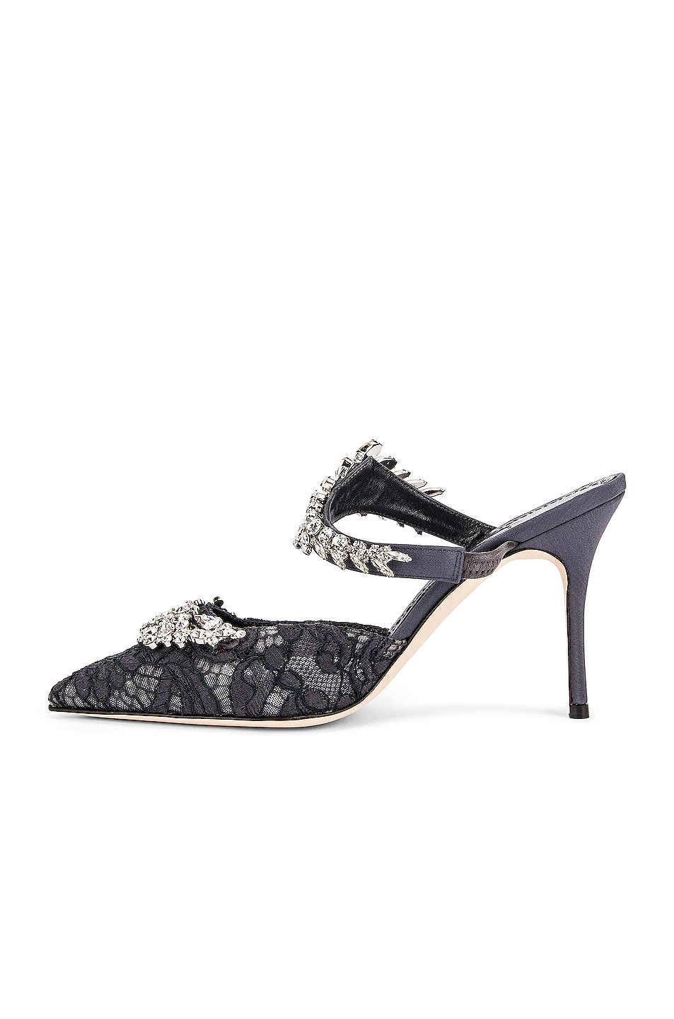 Image 5 of Manolo Blahnik Lurum 90 Mule in Blue Grey