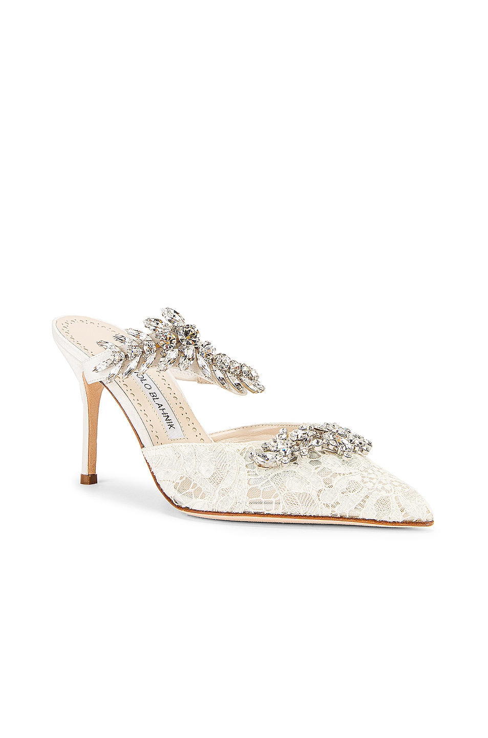 Image 3 of Manolo Blahnik Lurum 90 Mule in White