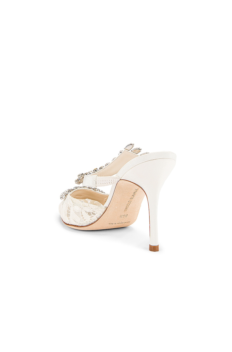 Image 4 of Manolo Blahnik Lurum 90 Mule in White
