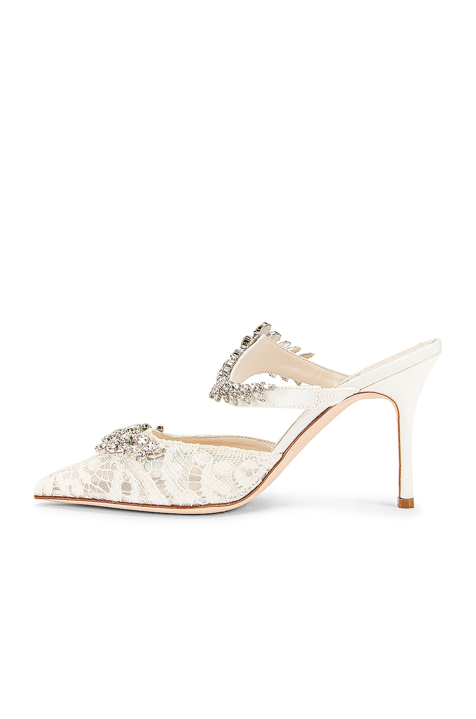 Image 5 of Manolo Blahnik Lurum 90 Mule in White