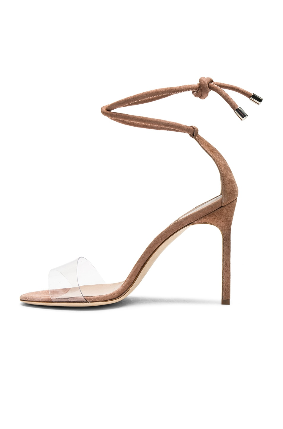 Image 5 of Manolo Blahnik 105 Suede Estro Sandals in Rose Nude Suede